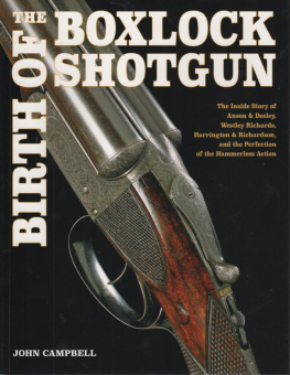 BIRTH OF THE BOXLOCK SHOTGUN
